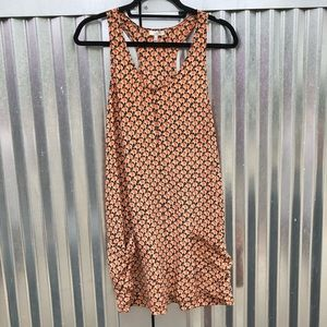 Joie elephant print silk racerback mini dress